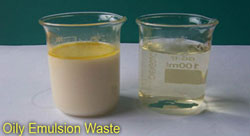 Oily emulsion waste