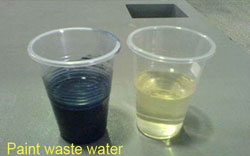 Paint waste water