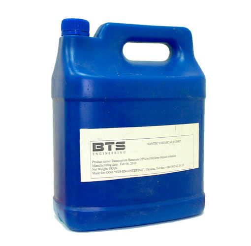 25% denatonium benzoate (bitrex) in ethylene-glycol solution