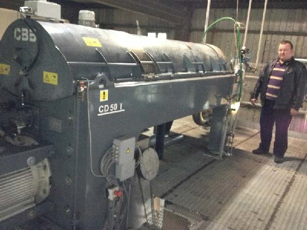 Decanter Centrifuge with a capacity of 40 t/h